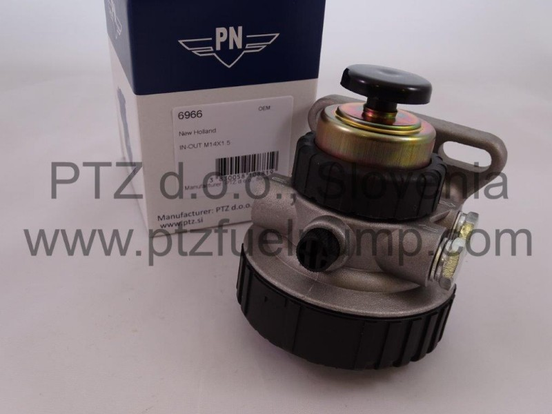 fuel filter head new holland - pn 6966 - ptz.si  ptz fuel pumps